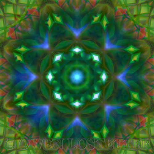 digital fine art limited edition giclee print by owen lostetter from the mandala series.